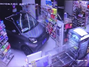 Parking Worries — Man Drives Into Department Store To Save Time