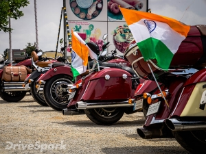 A Very Indian Independence Day With Indian Motorcycle, In Bangalore