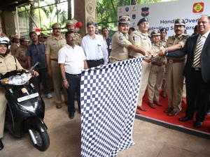 Hero MotoCorp Presents Over 150 Scooters To Telangana Women Police Officers