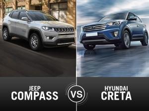 Jeep Compass Vs Hyundai Creta Comparision — Tussle Of The Decade