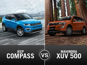 Jeep Compass Vs Mahindra XUV500 Comparison — The Fight Gets All The More Interesting