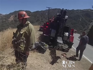 Motorcyclist Rides Off Cliff; Lives To Tell About It