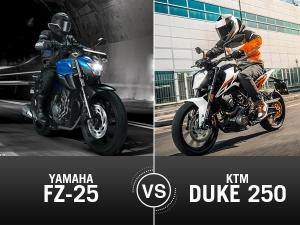 KTM Duke 250 vs. Yamaha FZ25: New Kids On The Block Go To War?