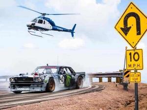 Video - Ken Block Drifts Up Pikes Peak In 1,400BHP AWD Mustang