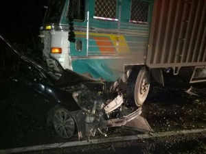 Four Students Killed In Fatal Crash Between Hyundai Verna And Truck Near Bangalore