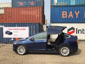 Tesla In India For The First Time — It's A Model X