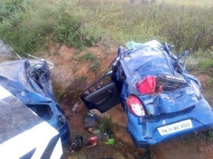 Speeding Maruti Alto Falls Off Bridge In Tamil Nadu — Young Cricketer Dies