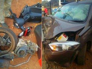 Tata Tiago Crashes Into Aprilia SR 150 — Scooter Split In Half