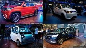 Mahindra SUVs And Cars At Auto Expo 2018 - TUV Stinger Concept, eKUV100, Rexton & More