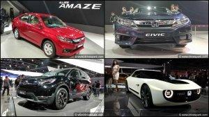 Honda Cars At Auto Expo 2018 - New Amaze, CR-V, Civic & More