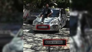 Young Man Takes Joyride On Car's Bonnet; Gets Reported With Video