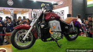 Auto Expo 2018: UM Motorcycles Renegade Thor Electric Cruiser Launched In India At Rs 4.9 Lakh
