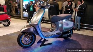 Auto Expo 2018: Vespa Elettrica E-Scooter Showcased - Specifications, Features & Images
