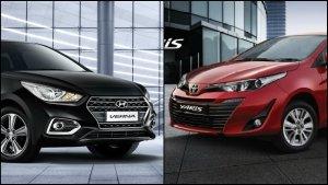 Toyota Yaris Vs. Hyundai Verna Comparison: Design, Specifications, Features & Mileage
