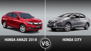 Honda Amaze 2018 vs Honda City Comparison: Design, Specifications, Features, Mileage & Price