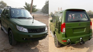 Tata Safari Storme Army Edition Spotted; Specifications, Features And More Details
