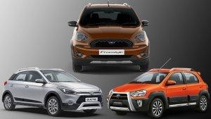 Ford Freestyle Vs Hyundai i20 Active Vs Toyota Etios Cross: Design, Specs, Features, Mileage & Price