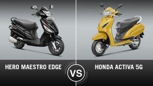 Honda Activa 5G Vs Hero Maestro Edge Comparison: Design, Specifications, Features, Price And Mileage
