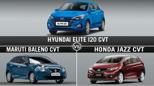 Hyundai Elite i20 CVT Vs Maruti Baleno CVT Vs Honda Jazz CVT: Which Is The Best CVT Hatchback?