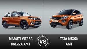Maruti Vitara Brezza Automatic Vs Tata Nexon Automatic: — Which Lost The Clutch Pedal Better?