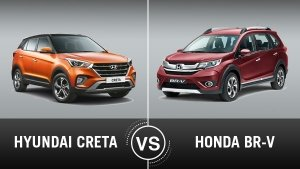 Hyundai Creta Vs Honda BR-V Comparison: Design, Specifications, Features, Mileage & Price