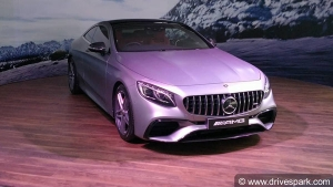 Mercedes-AMG S63 Coupe Launched At Rs 2.55 Crore — Combines Performance With Elegance