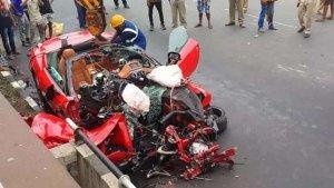 A Ferrari Crashed In Kolkata — Driver Dead, Passenger Severely Injured