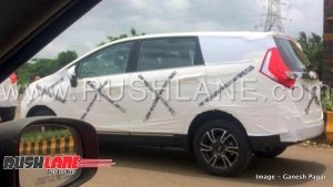 Mahindra Marazzo Spotted Testing Again — Reveals Shark LED Tail Lights And Alloy Wheels