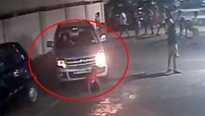 Miraculous Escape — Kid Walks Away After Maruti Suzuki WagonR Runs Over Him