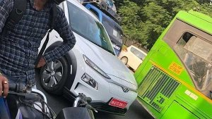 Hyundai Kona Electric SUV Spotted Testing — India-Launch To Happen Next Year