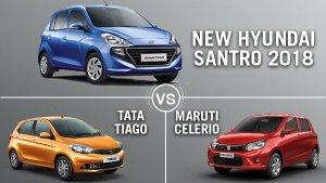New Hyundai Santro 2018 Vs Tata Tiago Vs Maruti Celerio: Which Is The Best Hatchback?