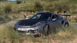 Porsche 911 GT3 RS (991) Ends Up In Some Nice Belgian Grass After Driver Misjudged A Corner
