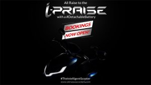 Okinawa i-Praise Bookings Open For Rs 5000: Comes With A 'Detachable' Battery Promising 180km Range