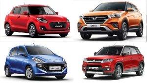 Top-Selling Cars In India November 2018: Maruti Swift Leads While The Hyundai Santro Makes It Big