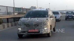 New Renault MPV Spied Testing In New Video — To Rival The New Maruti Ertiga