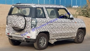 Mahindra TUV300 Facelift Spied Testing — Updated With New Features & Safety Equipment