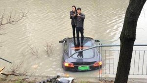 Tesla Model S Jumps Into A River — Driver Claims Electric Super Sedan Accelerated On Its Own