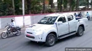 2019 Isuzu D-Max V-Cross Facelift Spotted Testing In Bangalore — Launch On The Horizon