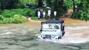 Mahindra Thar Crosses Raging River — Shows Its Fording Skills