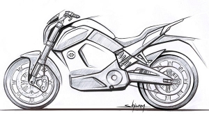 Revolt Intellicorp Teases Upcoming Electric Motorcycle — Design Sketch Released