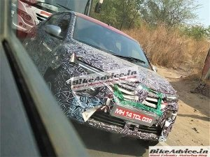 Spy Pics: 2020 Renault Kwid Facelift Spotted Testing