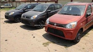 New Maruti Alto 800 Facelift Spied At Dealerships — Launch Expected In The Coming Days