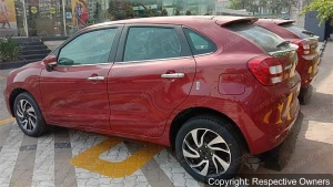 Exclusive: Toyota Glanza Spotted At Dealership Ahead Of Launch