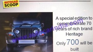 Mahindra Thar Signature Edition Images & Details Leaked — The Final Countdown?