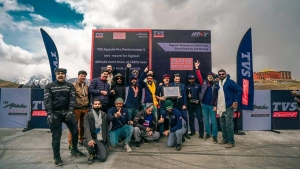 TVS Apache Stunt Team Sets New Record — Enters Asia Book Of Records