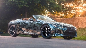 The Lexus LC Convertible Revealed At Goodwood — We Want A Camo Paint Job!