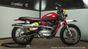 Jawa 42 Modified To Look Like A Scrambler — Autologue Design Has Set The Bar Really High