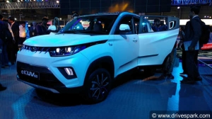 Mahindra KUV100 Electric Spotted While Testing — Spy Pics And Details