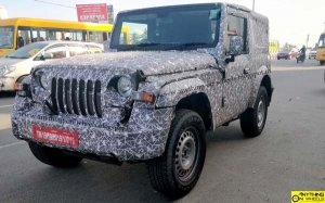 The 2020 Mahindra Thar Production Version Spied Ahead Of Launch Early Next Year