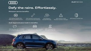 """Audi Owners To Get Premium Support This Monsoon Through """"Defy the rains. Effortlessly"""""""